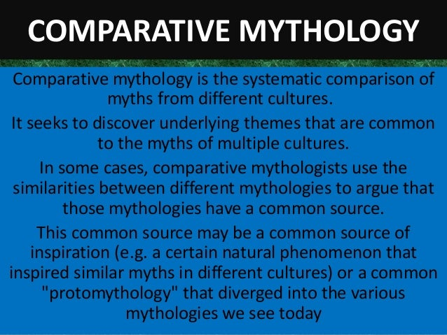 comparative mythology essay Compare and contrast the greeks and the romans history essay  classical mythology a guide to the mythical world of the greeks and the romans new york: oxford .