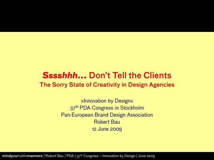 Robert Bau Systematic Creativity PDA 090612