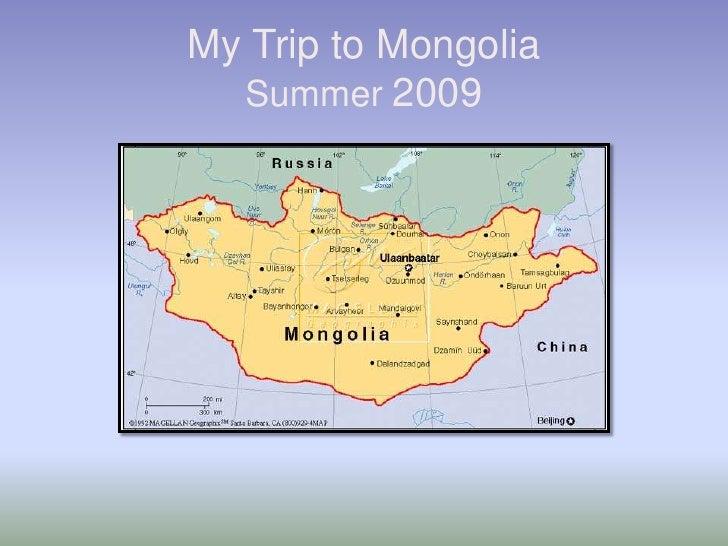 My Trip To Mongolia