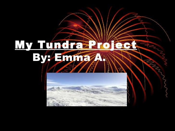 My Tundra Project By: Emma A.