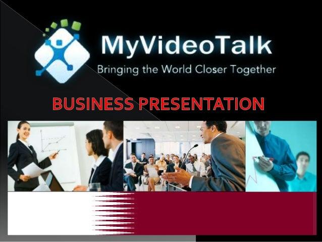 My videotalk powerpoint