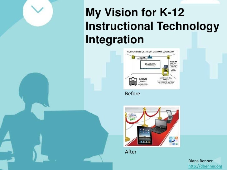 My Vision for K-12Instructional TechnologyIntegration       Before       After                  Diana Benner              ...