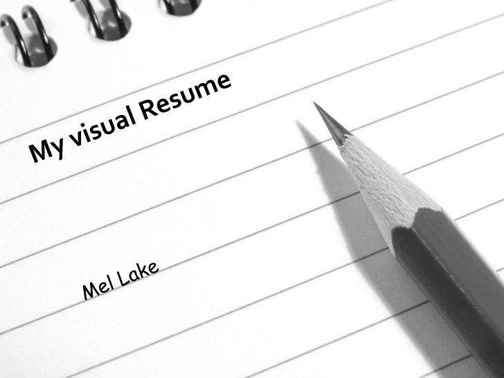 My visual resume   visual bee