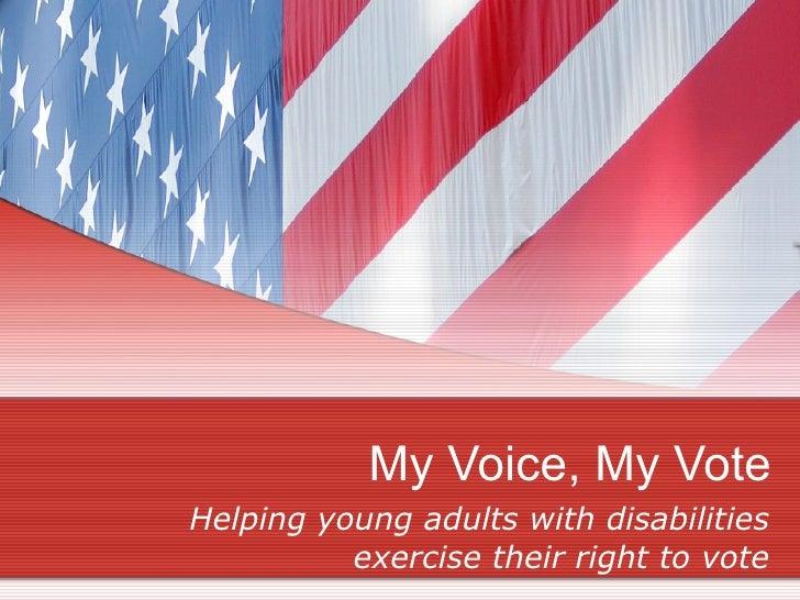 National Civic Summit - My Voice, My Vote Presentation