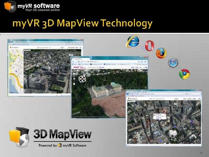 myVR 3D MapView Technology