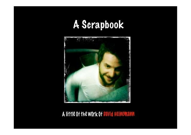 a scrapbook - David Heinemann
