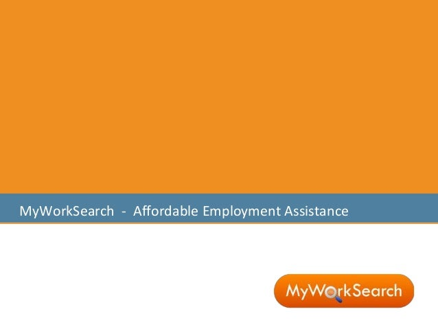 MyWorkSearch - Affordable Employment Assistance