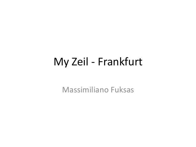 My Zeil - Frankfurt Massimiliano Fuksas