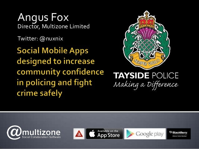 Tayside Police Mobile App launch presentation