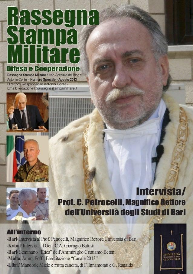 Rassegna Stampa MilitareDifesa e Cooperazione Rassegna Stampa Militare è uno Speciale del Blog di Antonio Conte - Numero S...