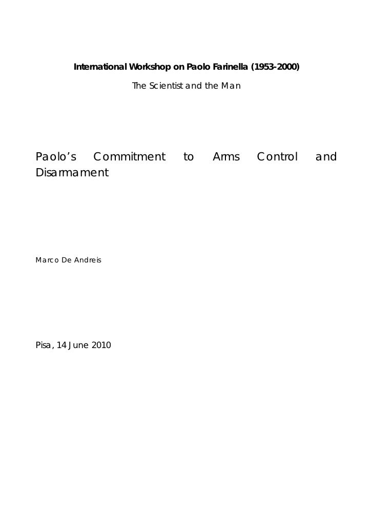 International Workshop on Paolo Farinella (1953-2000)                        The Scientist and the Man     Paolo's Commitm...