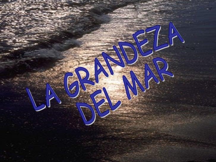 LA GRANDEZA DEL MAR