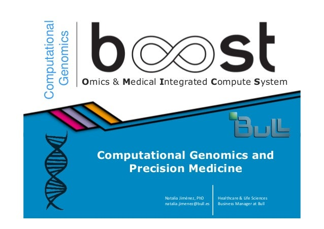 1© Bull, 2014 Computational Genomics Omics & Medical Integrated Compute System Computational Genomics and Precision Medici...