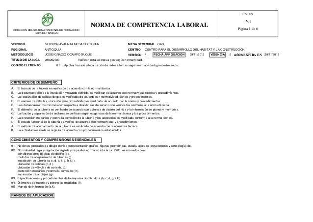 VERSION MESA SECTORIAL REGIONAL CENTRO METODOLOGO VERSION AVALADA MESA SECTORIAL GAS ANTIOQUIA TITULO DE LA N.C.L 28020202...