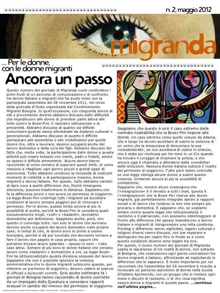Le Mafalde su Migranda (maggio 2012)