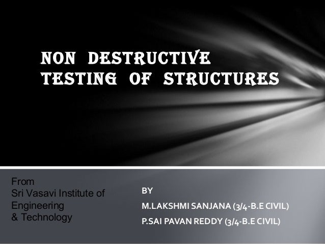 Non destructive testing of structures