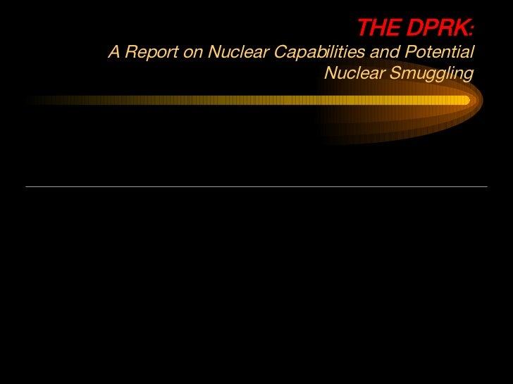 N Korea Proliferation