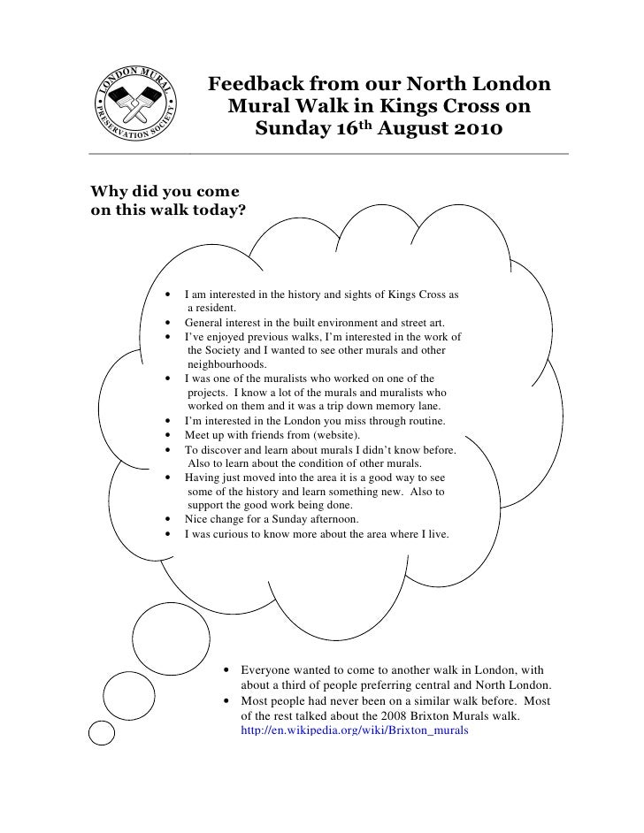 LMPS Walk evaluation August 2010