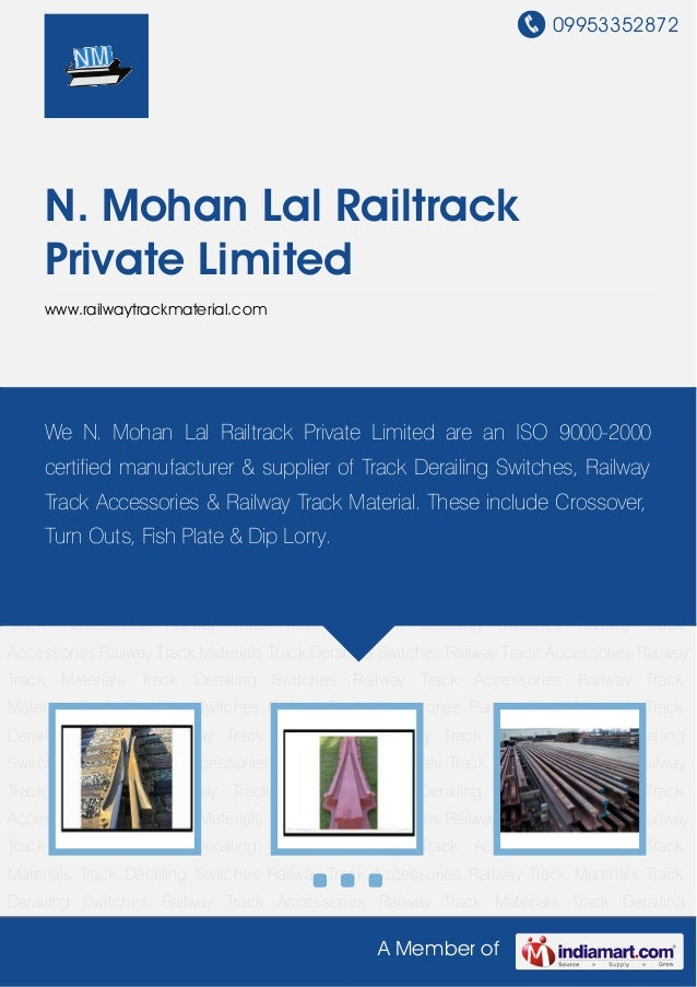Dual Gauge Switches by N mohan-lal-railtrack-private-limited