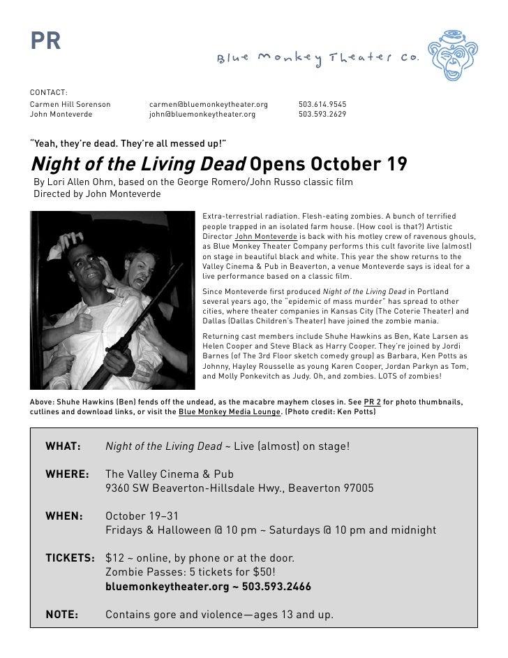 PR CONTACT: Carmen Hill Sorenson          carmen@bluemonkeytheater.org           503.614.9545 John Monteverde             ...