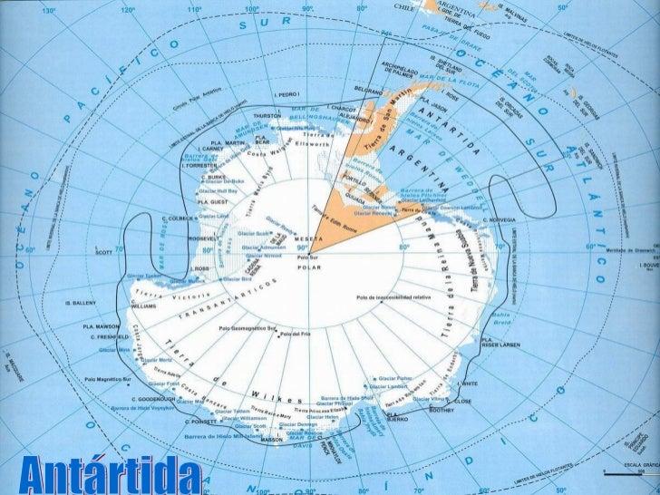 La Antártida es el continente más austral de la tierra, en elPolo Sur. Está situado en la región antártica del hemisferios...