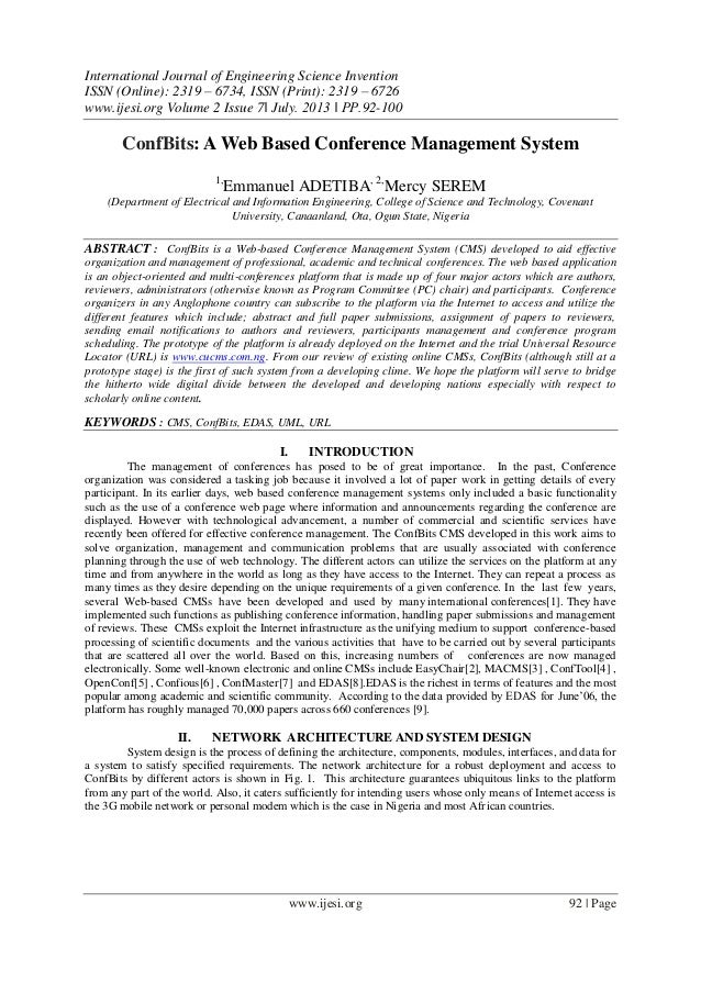 International Journal of Engineering and Science Invention (IJESI)