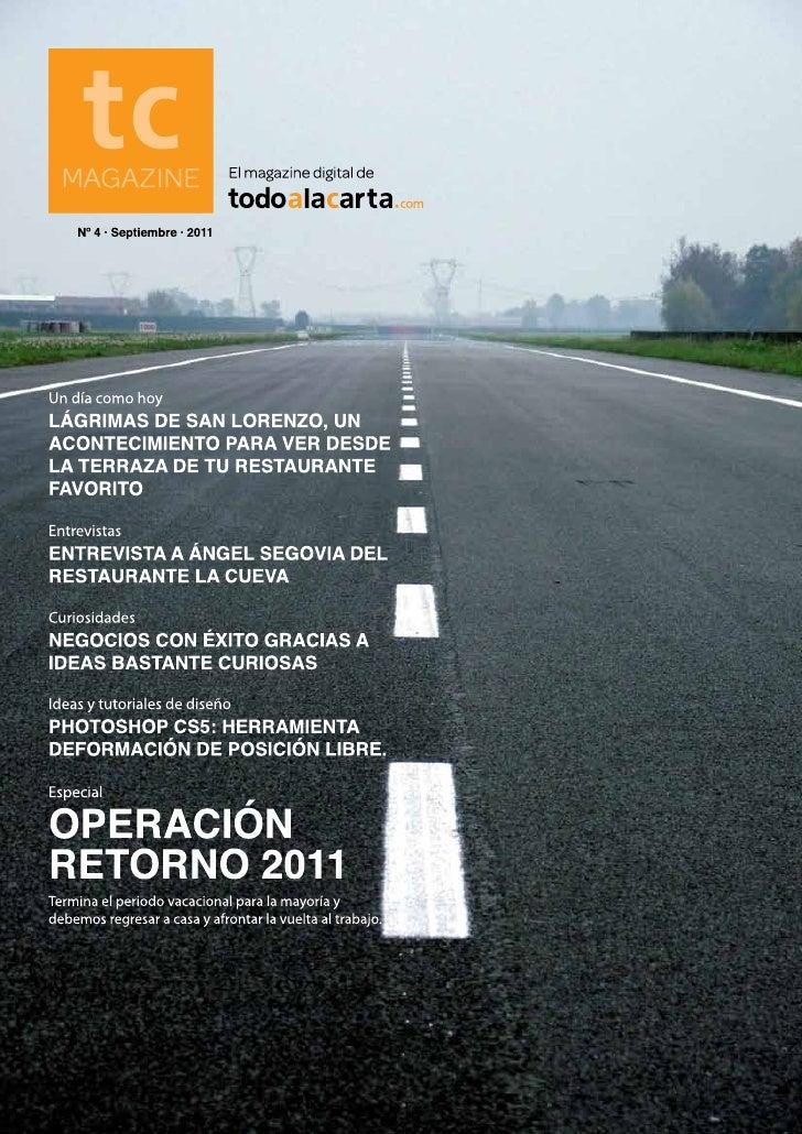 El magazine digital de todoalacarta.com · MAGAGAZINE · 1