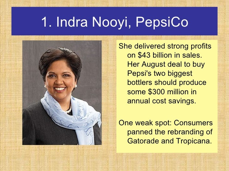 leadership the indra nooyi
