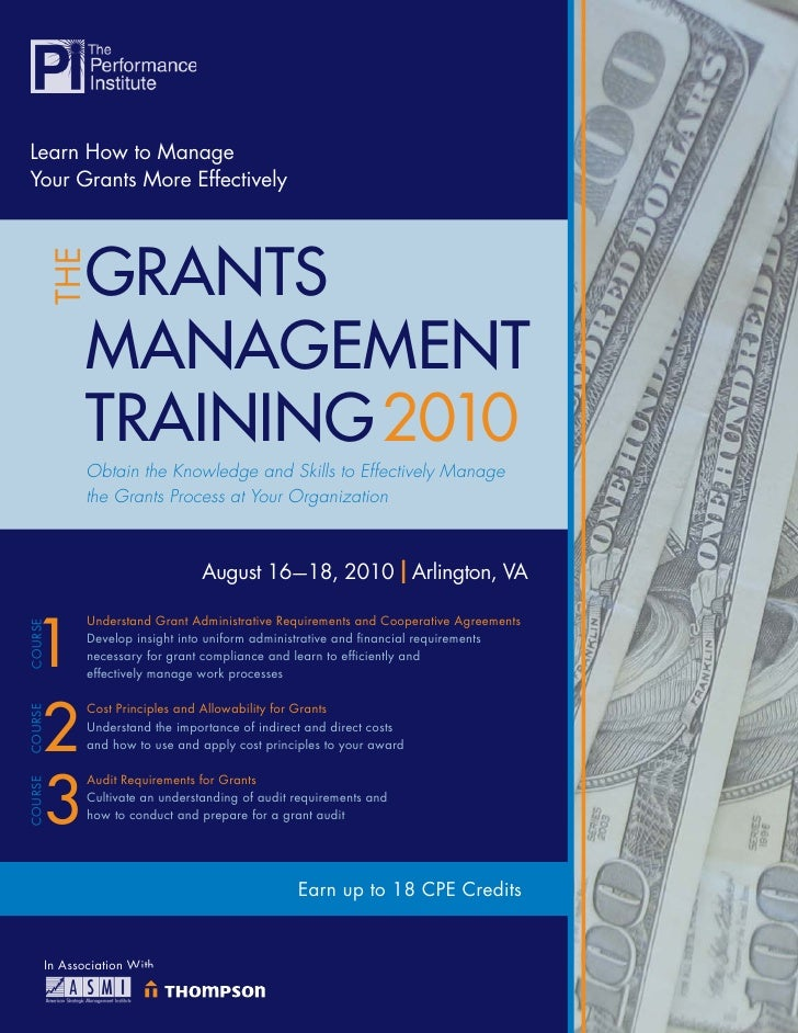 Learn How to Manage Your Grants More Effectively                 GRANTS          THE                 MANAGEMENT           ...