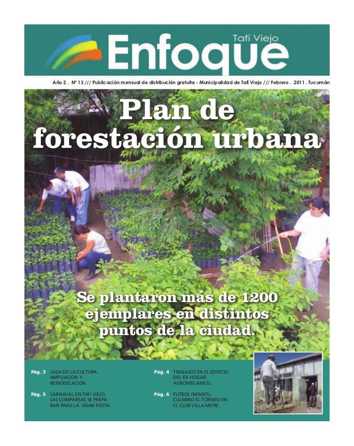 Año 2 . Nº 13 /// Publicación mensual de distribución gratuita - Municipalidad de Tafí Viejo /// Febrero . 2011 . Tucumán ...