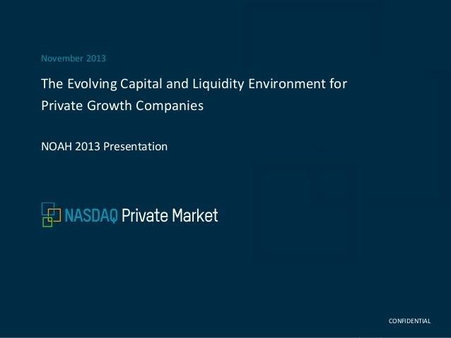 Nasdaq Private Market - NOAH13 London