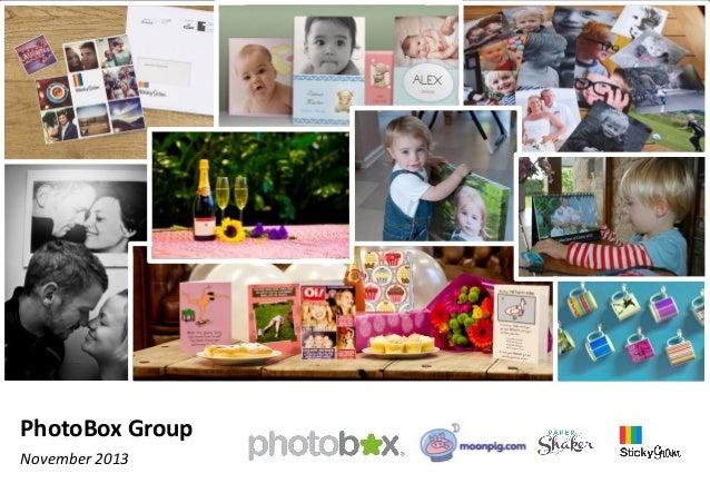 PhotoBox Group November 2013