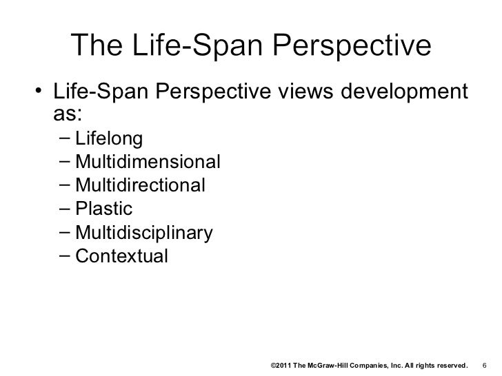 Life Span Perspective on Human Development - Essay Example