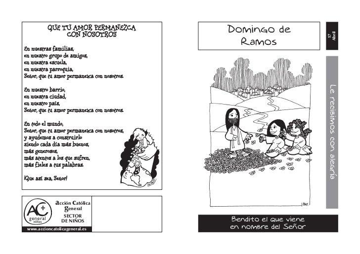 Reflexión para niños. Domingo de Ramos