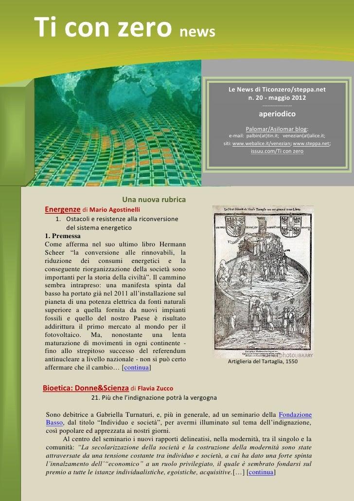Ti con zero news                                                                   Le News di Ticonzero/steppa.net        ...