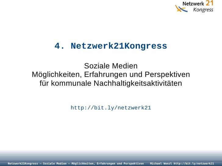 Netzwerk21Kongress - Soziale Medien