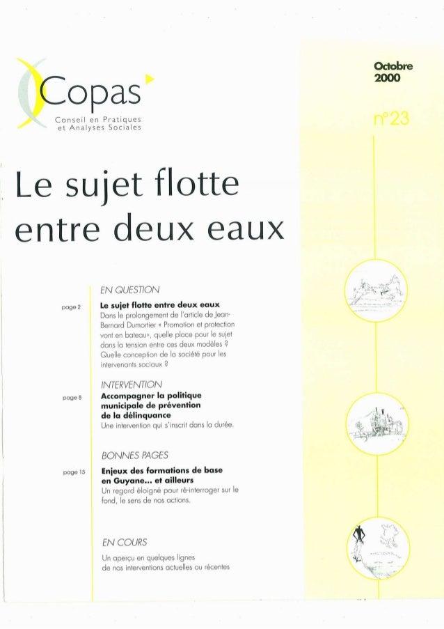 opas'  /  Conseil en Pratiques et Analyses Sociales    Le sujet flotte entre deux eaux  poge2  poge8  pogela  EN QUEST/ ON...