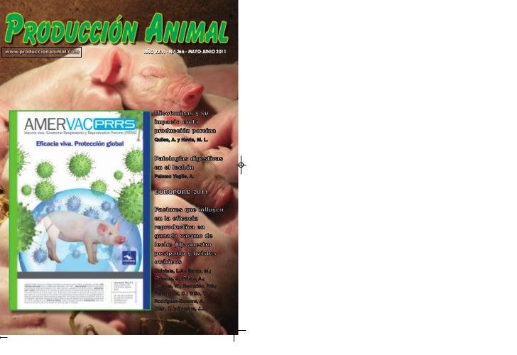 AÑO XXVI - N.º 266 - MAYO-JUNIO 2011    Micotoxinas y su    impacto en la    producción porcina    Quiles, A. y Hevia, M. ...