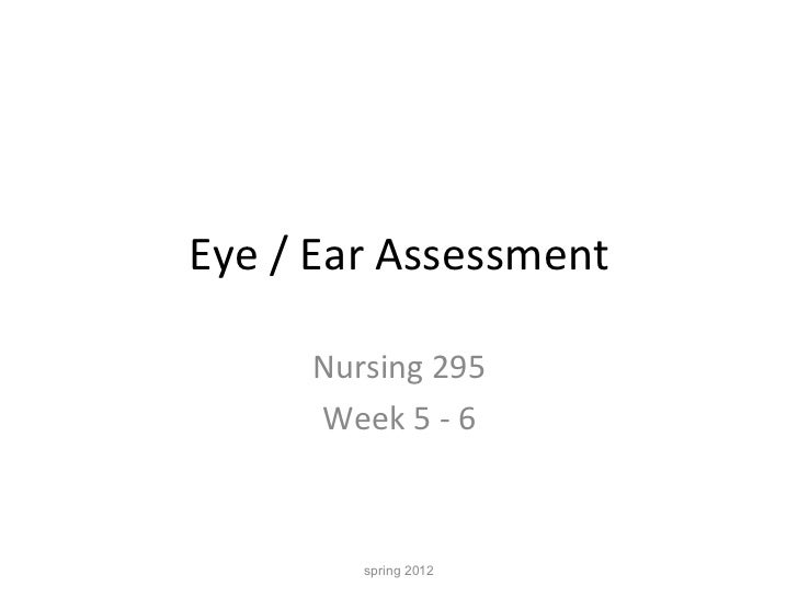 N 295 lecture 5  6 eye and ear student copy