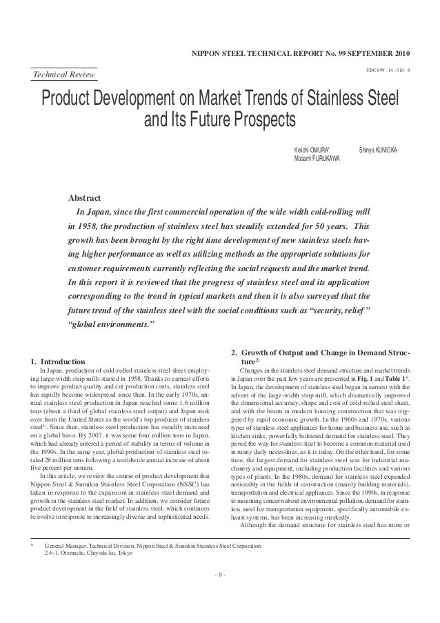 NIPPON STEEL TECHNICAL REPORT No. 99 SEPTEMBER 2010                                                                       ...