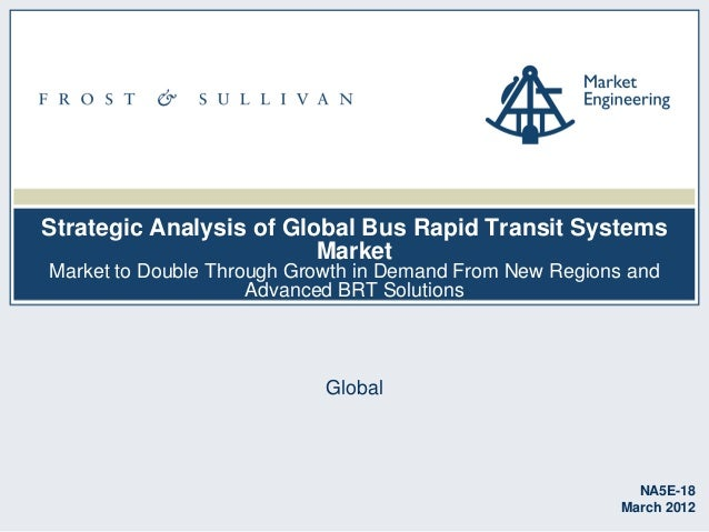 Strategic Analysis of Global Bus Rapid Transit Systems Market Market to Double Through Growth in Demand From New Regions a...