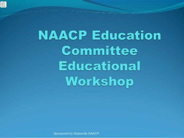 Education Committee Workshop