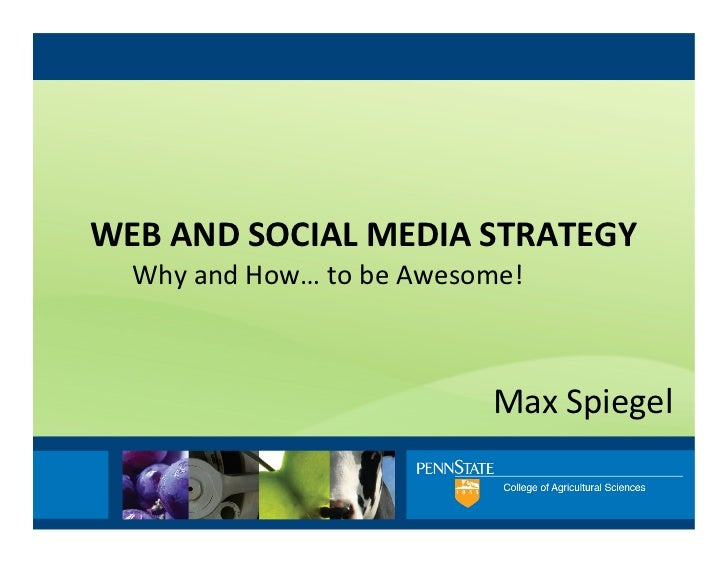 WEB AND SOCIAL MEDIA STRATEGY    Why and How… to be Awesome!                                        ...