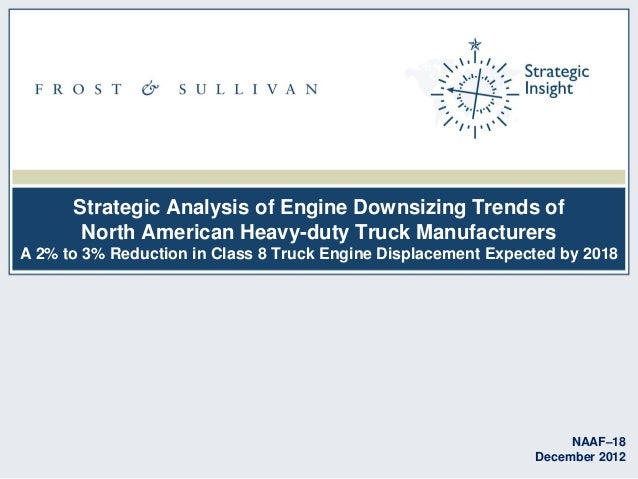 Strategic Analysis of Engine Downsizing Trends of North American Heavy-duty Truck Manufacturers A 2% to 3% Reduction in Cl...