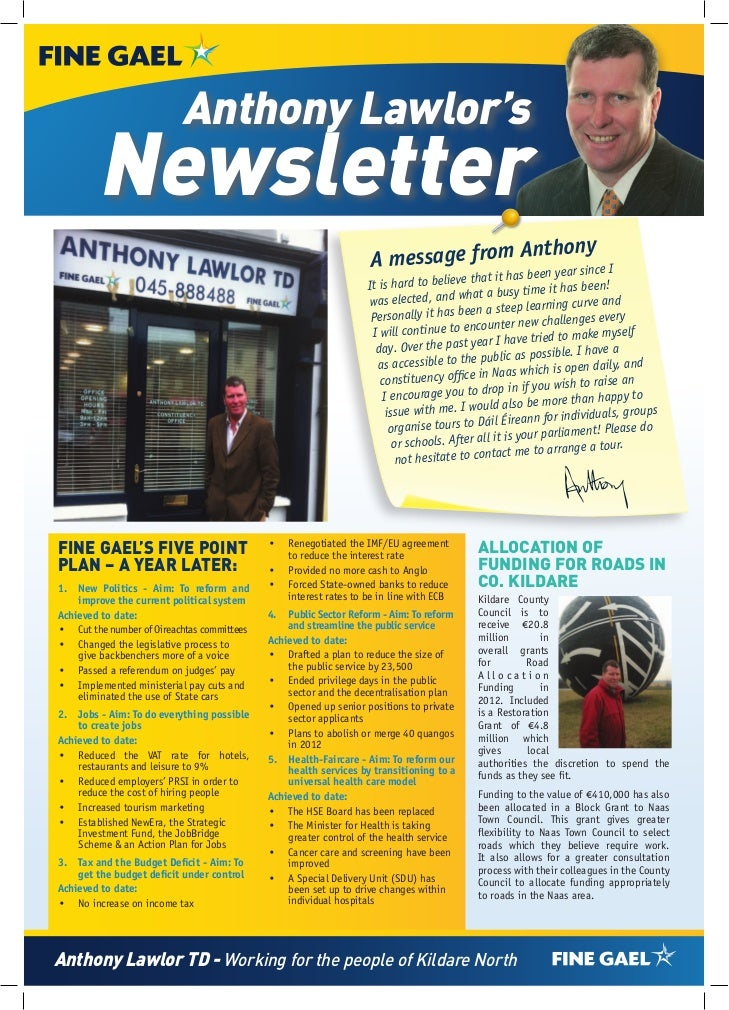 Anthony Lawlor's        Newsletter                                                                                      th...