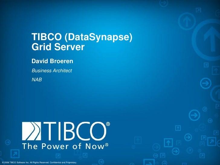 TIBCO (DataSynapse)                               Grid Server                               David Broeren                 ...