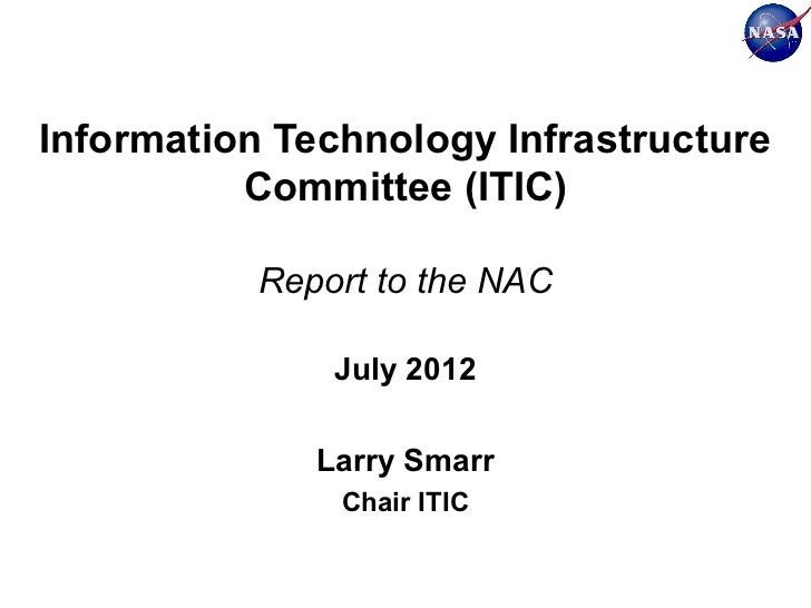 Information Technology Infrastructure Committee (ITIC)