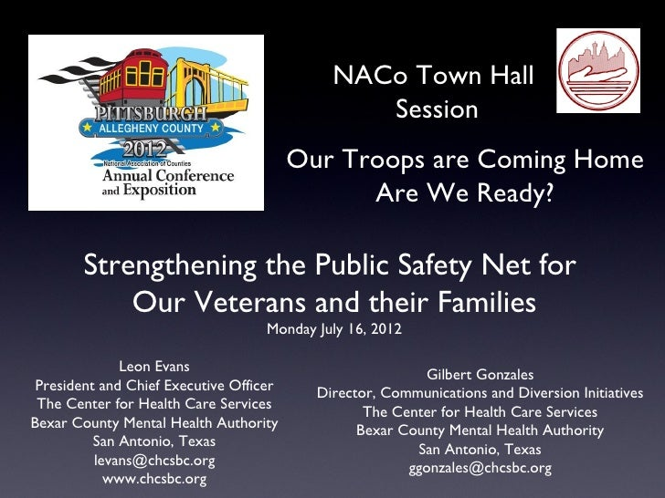 NACo Town Hall                                                Session                                         Our Troops a...