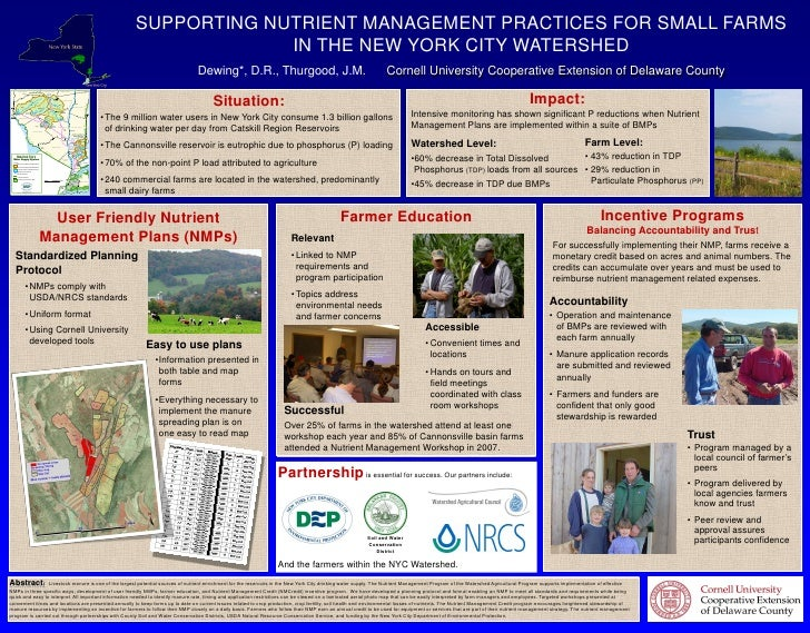 SUPPORTING NUTRIENT MANAGEMENT PRACTICES FOR SMALL FARMS IN THE NEW YORK CITY WATERSHED