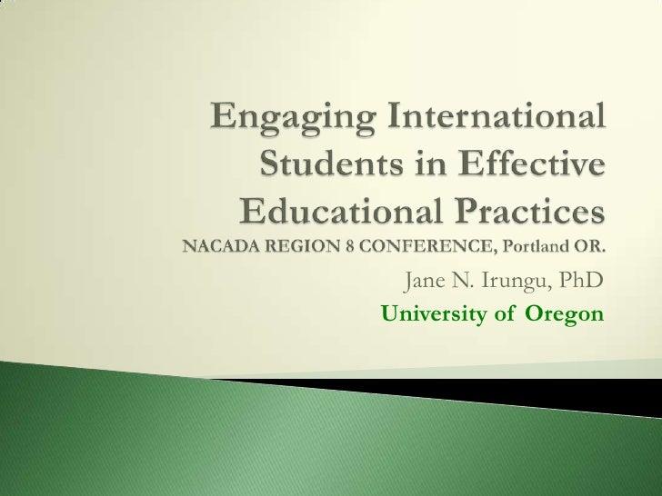 Jane N. Irungu, PhDUniversity of Oregon